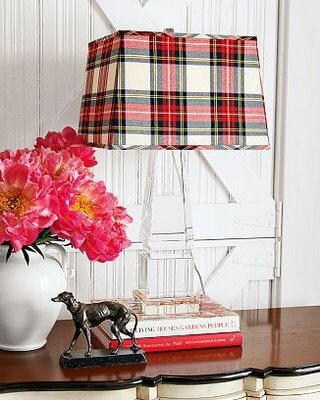 Plaid Lamp shade bedside