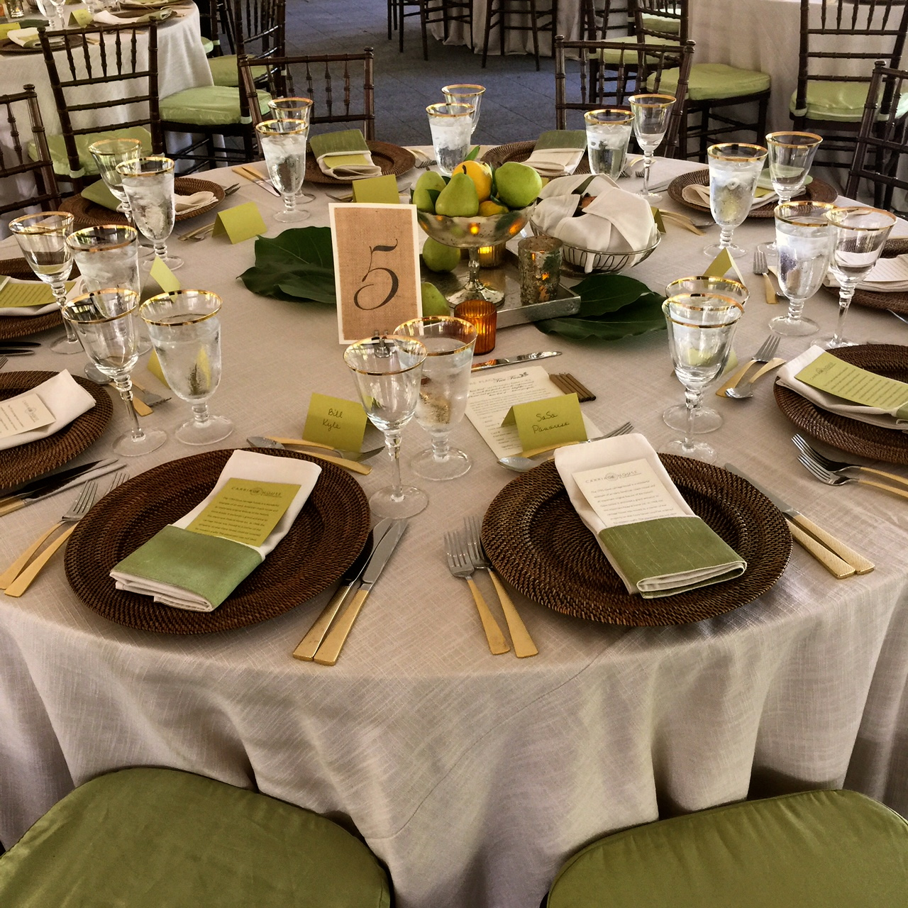 Be Our Guest Catering table design for Gore Place Gala
