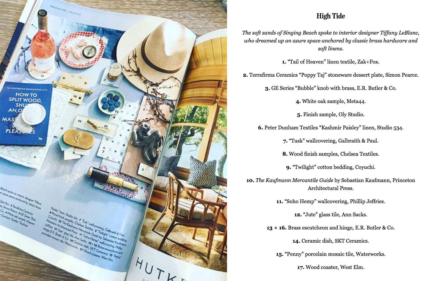 LeBlanc Interior Design featured in Boston Home Magazine