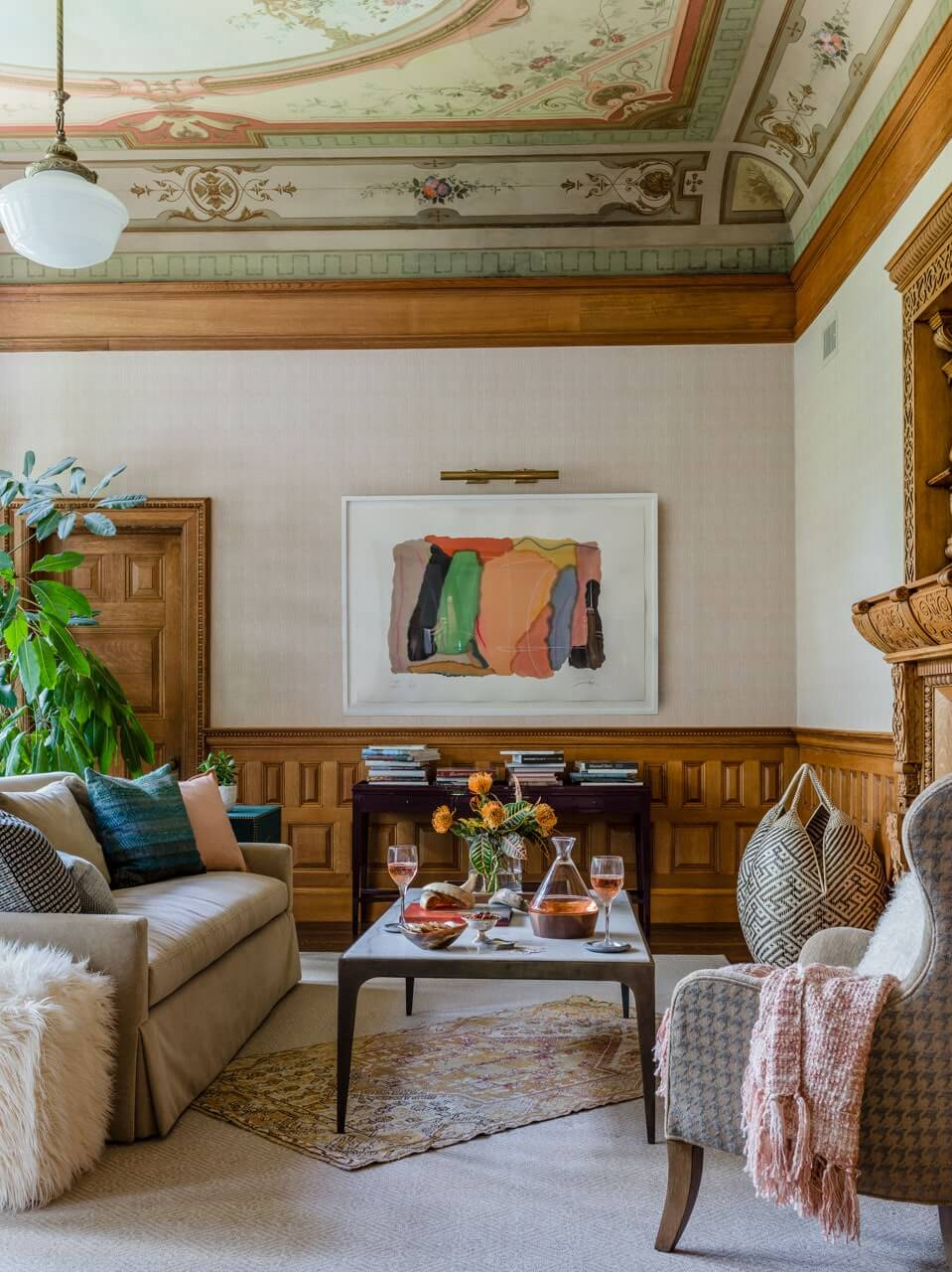 Grande Dame Queen Ann Victorian. Interior design by LeBlanc Design Interiors, Boston interior designer